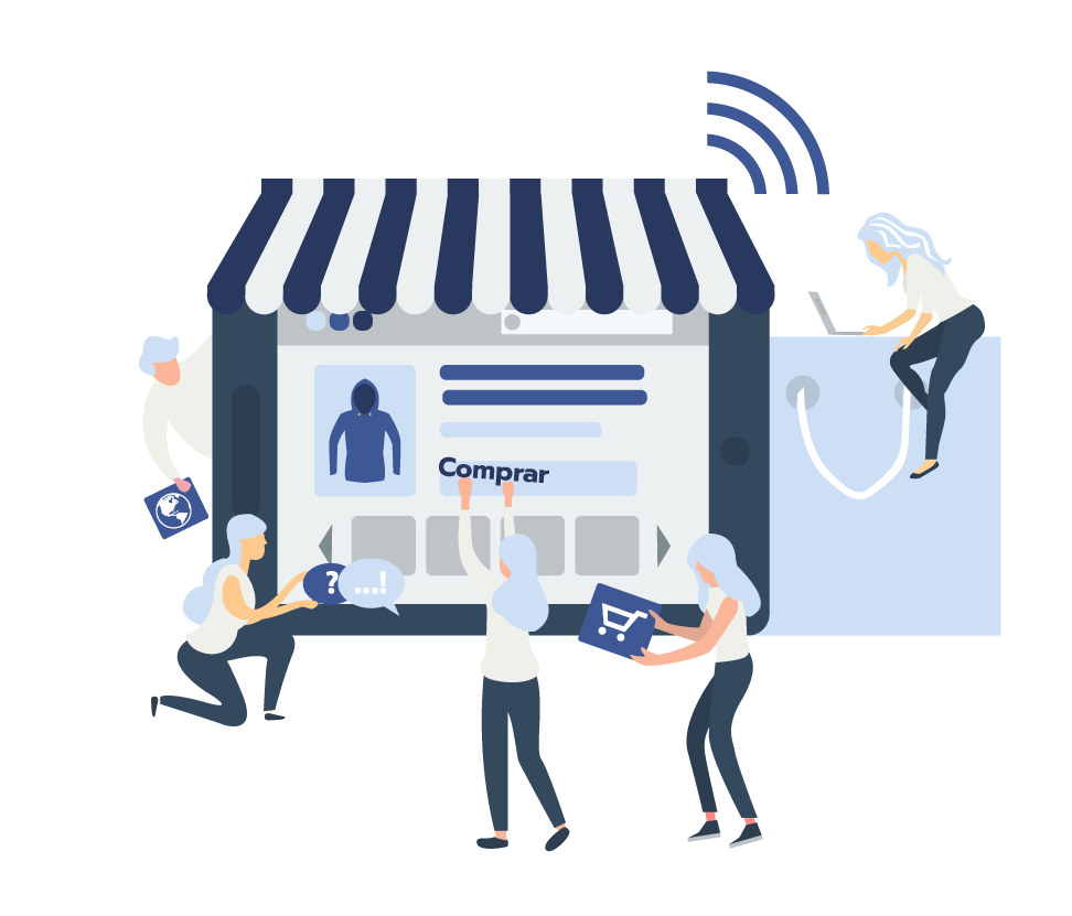 ilustración gestión de plataformas web